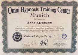 Zertifizierte Hypnose Therapeutin Müchen